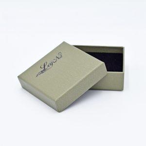 Boîte de luxe personnalisable grise Ley Nat