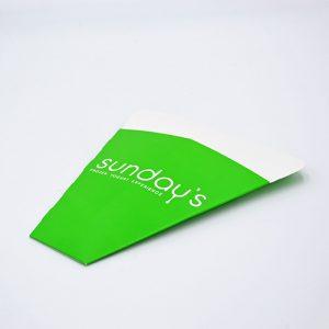 Emballage crêpe personnalisé Sunday's vert