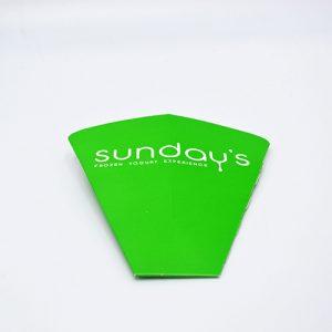 Emballage pour crêpe personnalisé Sunday's